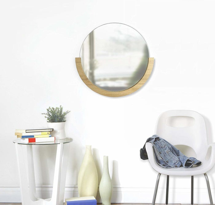 """Promising review: """"This is such a great mirror! It looks great in my guest room, and I've received several compliments on it. It's also very easy to clean and the glass isn't warped like some other mirrors I've bought."""" —Michele JonesGet it from Amazon for $79.52."""