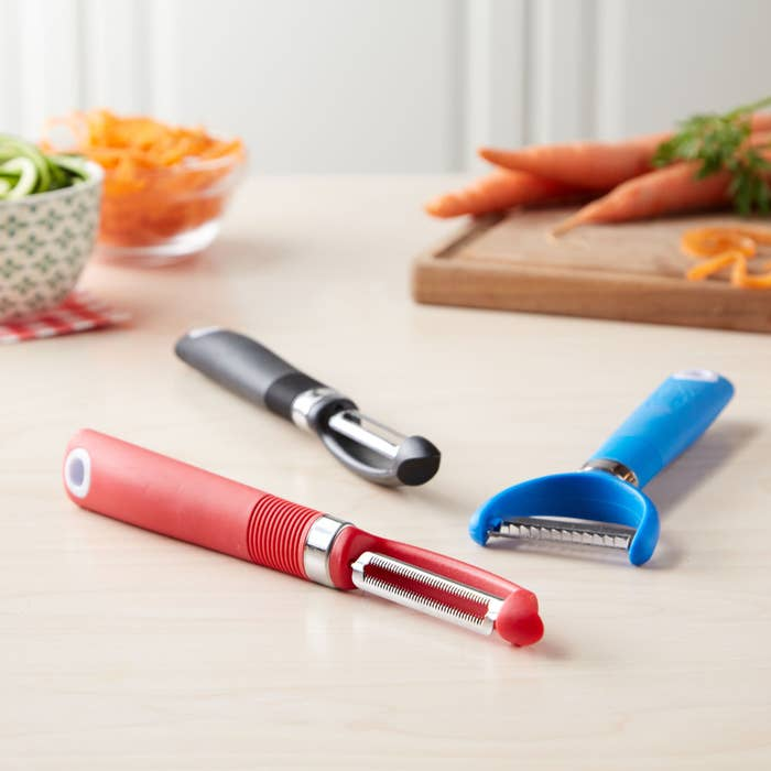 Features: soft grip handle, integrated potato eye removerPrice: $6.97 (part of BuzzFeed's Tasty cookware line)