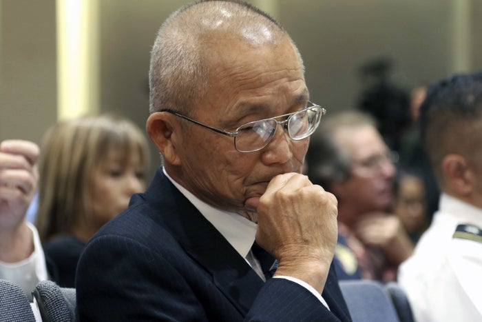 Former Hawaii Emergency Management Agency administrator Vern Miyagi listens during a hearing in Honolulu on Jan. 19.