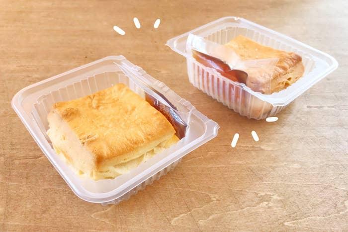 結構大きいので、一人で食べるなら1個で十分かも。残りは冷凍しておけるのが便利です。