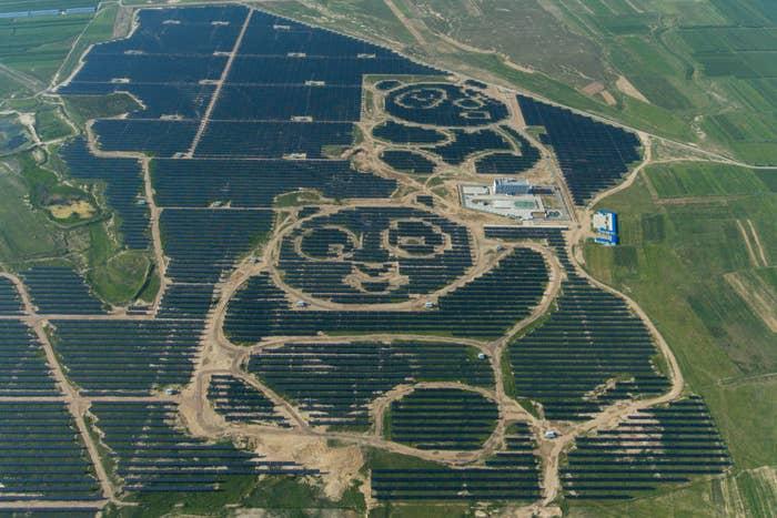 A solar farm in Datong, Shanxi Province.