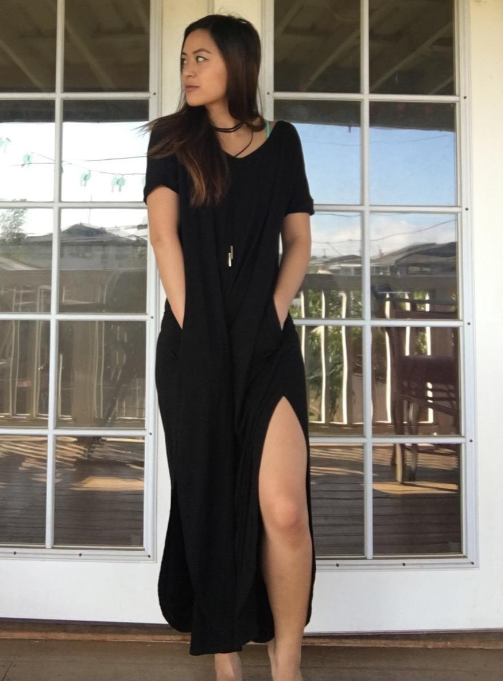 """Promising review: """"This dress is very soft and flowy, but also thick, not see- through, or flimsy."""" —SpedAisdGet it from Amazon for $14.70+ (available in sizes XS-L and in 11 colors)."""