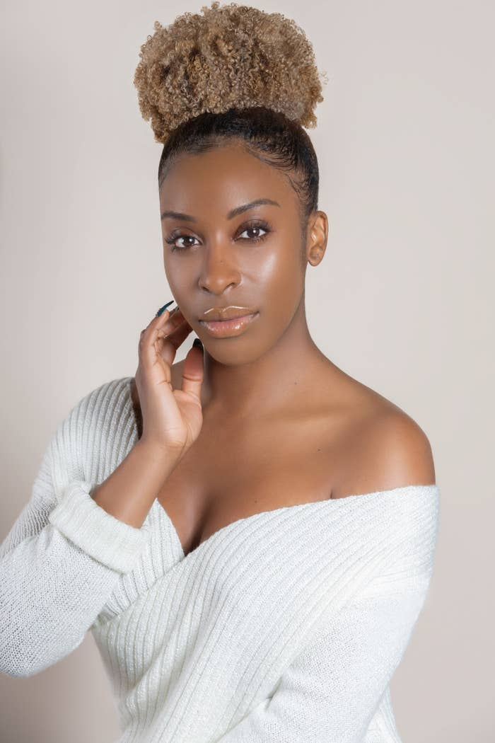 """Eventually she started her YouTube channel, geared to """"empowering women of color,"""" said Aina. """" I wanted to show people that it's okay to take beauty risks on dark skin. People ALWAYS felt like they needed to tell me what I could and couldn't pull off because of my complexion. Now, that movement has really become a place where anyone of dark skin can relate."""""""