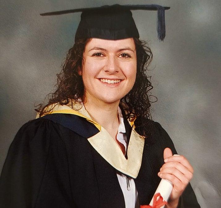 Rhiannon Brooker during her graduation.