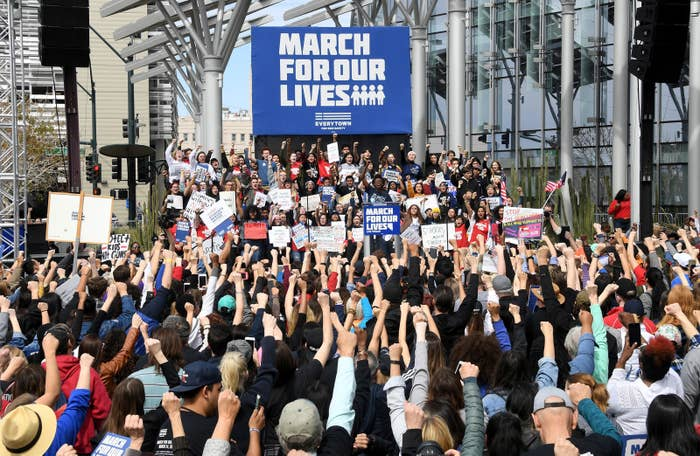 A March for Our Lives rally in Las Vegas.