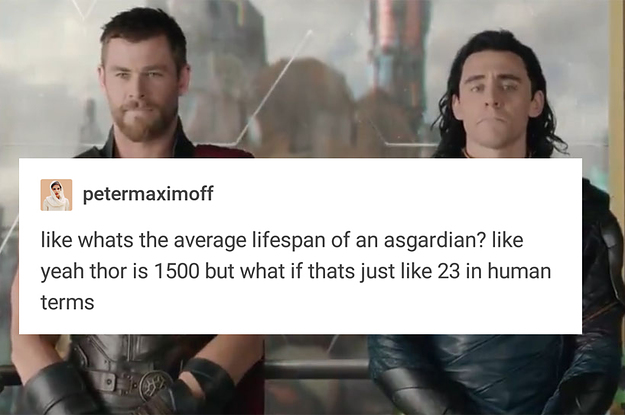 Tumblr Calculated How Old Thor And Loki Are In Human Terms