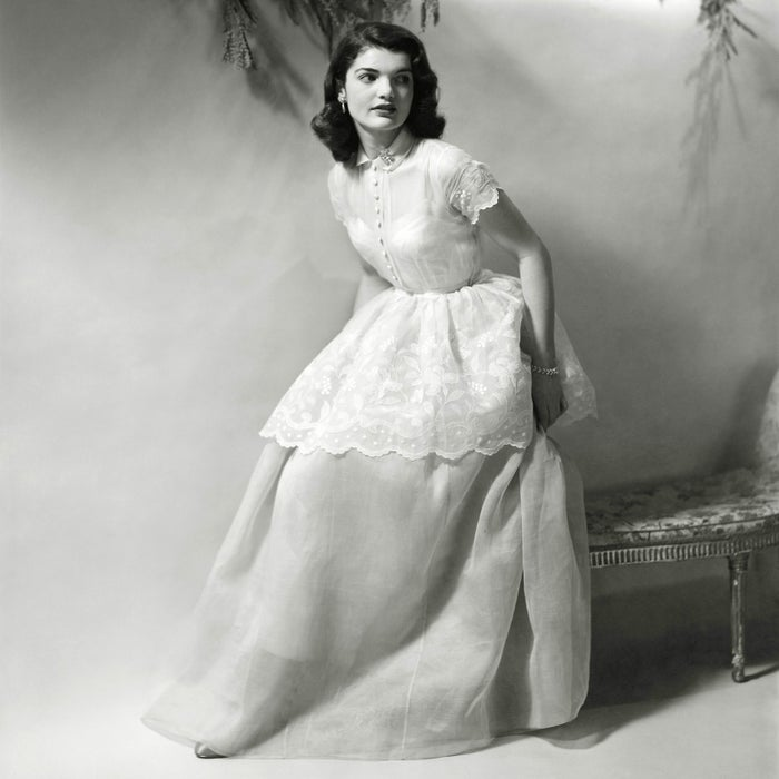 Jacqueline Bouvier poses for Vogue in 1948 at age 18.