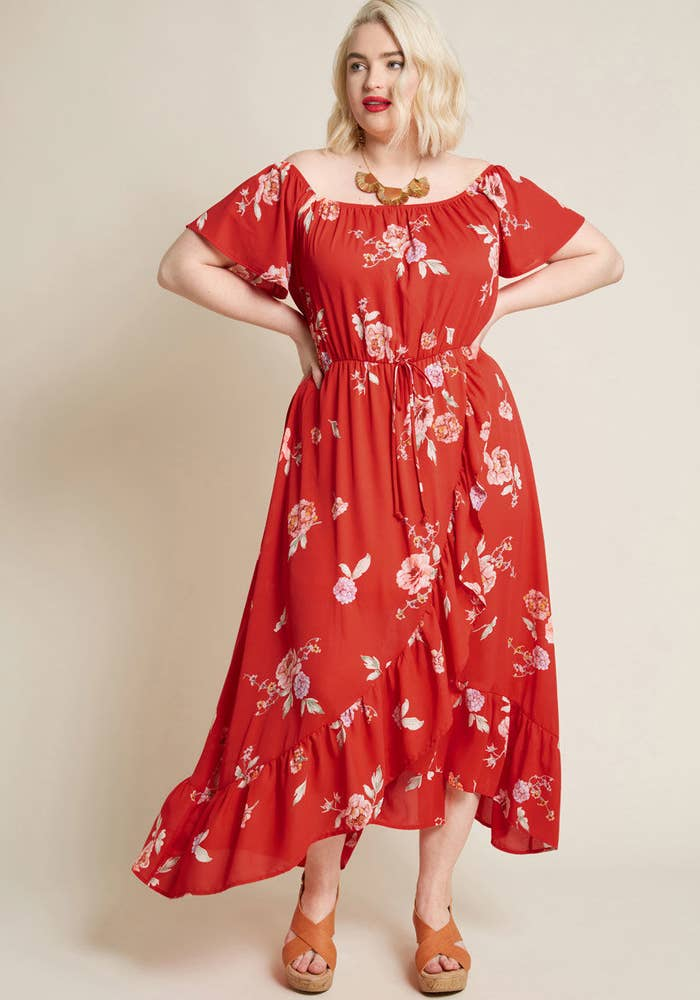6b8d7970924fc A maxi dress you can easily wear throughout the spring, summer, and fall.  (Sorry, winter. You'll probably have to sit this one out.)