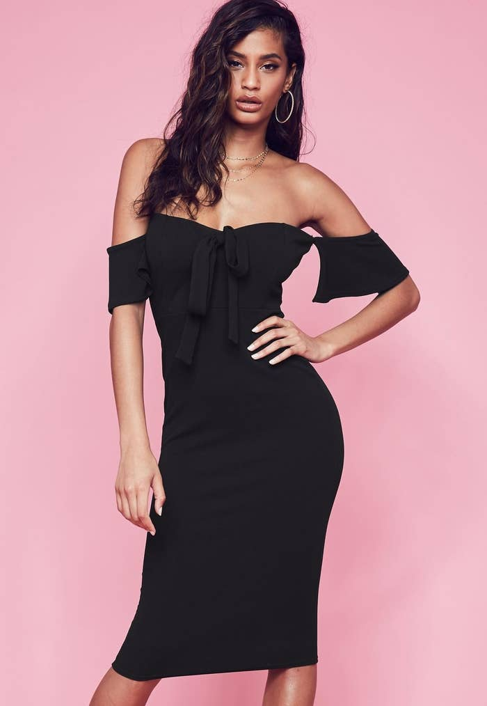 67e2642e83e A tie-front midi dress that will force your old LBD into retirement. Sorry