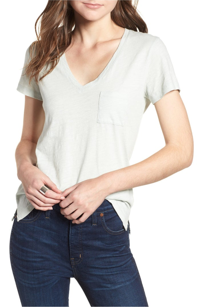 """Promising review: """"This is such a great fitting everyday t-shirt. Not too tight, not too loose. Just right and oh so comfy! Highly recommend!"""" —laddy1Price: $19.50 (available in XXS–XL and five colors)"""