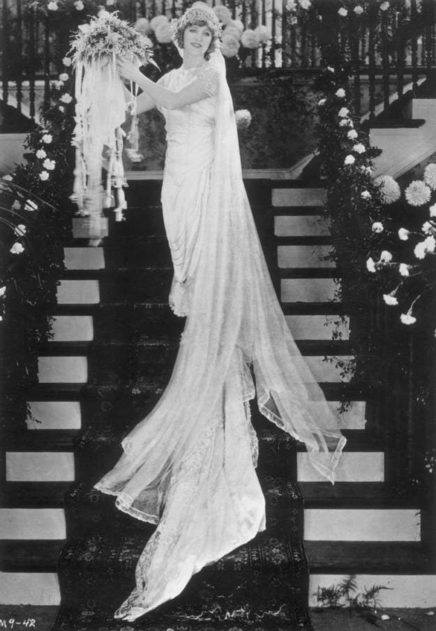 """Considered the first true movie star and known as """"America's Sweetheart,"""" Mary Pickford married fellow actor Douglas Fairbanks, whose wedding gift to her was an 18-acre estate with a cool 22 rooms and Beverly Hills' first swimming pool.*adds to registry*"""