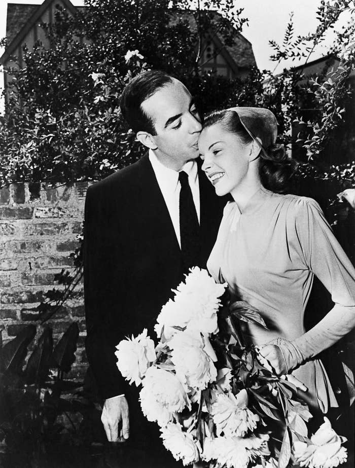 Garland and Minnelli's wedding took place in her mother's house in LA, and the head of MGM — the studio where she was signed — gave the couple a three-month honeymoon in New York as a present. Probably still cheaper than a KitchenAid mixer, amirite?