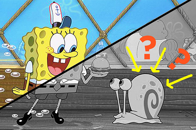 Can You Guess The Colors Of These Black And White Spongebob Images?