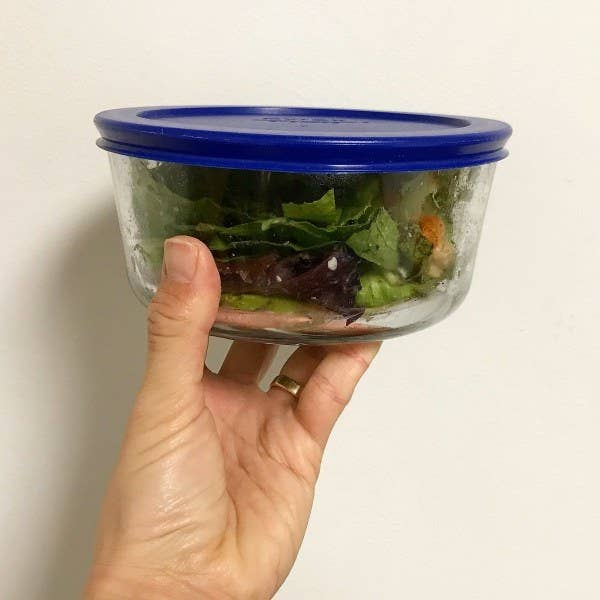 BYOC (Bring Your Own Container) will save you time because you don't have to wait for the food to be packed up (in a styrofoam box and plastic bag!) and money because you can have your leftovers for lunch the next day.