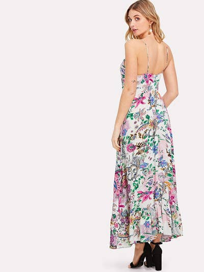 434728b682 A patterned halter dress for taking your style to the ~maxi~.