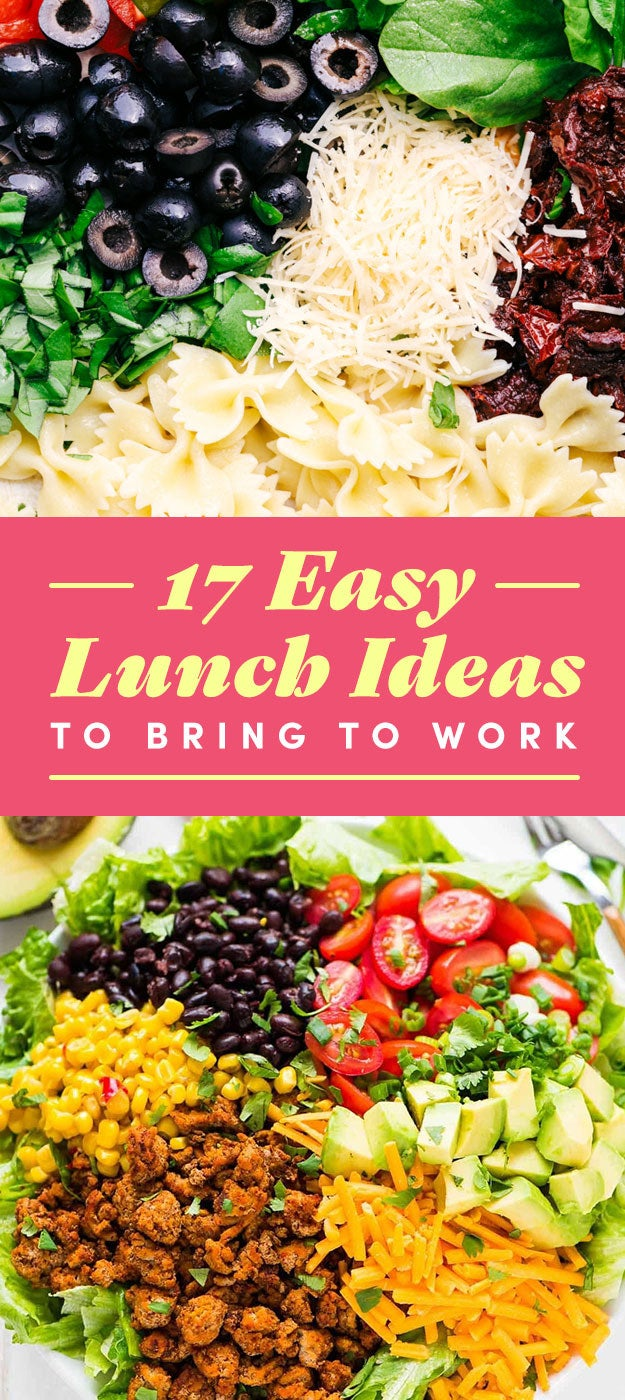 There's no better way to set yourself up for a solid day ahead than to pack your own lunch. And if you're out of recipe ideas, we've put together this list of versatile lunches that you can pack the morning or night before — from pasta salads, to above-average sandwiches, to Buddha bowls.