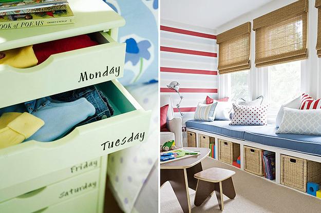 41 clevere und wunderschöne Ideen, um Ordnung ins Kinderzimmer zu bringen