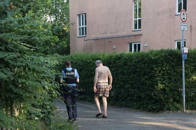 A Man Stole The Clothes Of A Far-Right German Politician And People Are Really Enjoying The Photo