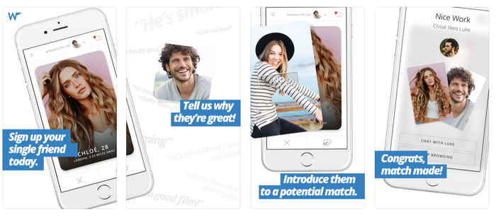 What it is: A dating app that lets you play matchmaker for your family and friends.How it works: First, you create a profile for your friends and search for people they might be interested in. If you find someone your friend might like, you make the first introduction and your friend will be able to view who you matched them with.Who it's for: Anyone who wants to hook up a friend, coworker, family member, etc.Get it for free for iOs and Android