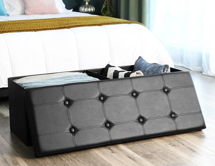 2 A Storage Ottoman Designed To Replace The Chair You Know In Your Room With Ever Growing Pile Of Clothes