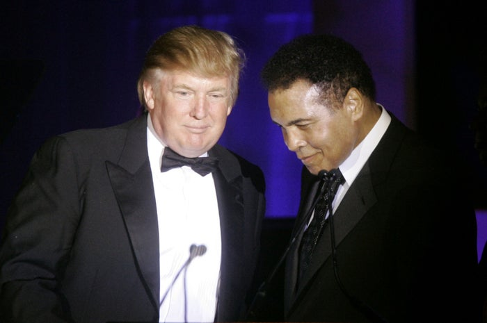 Trump and Ali in 2007.