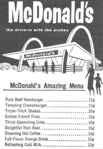 There are, of course, lots of different menu items you can get at McDonald's outside of America.