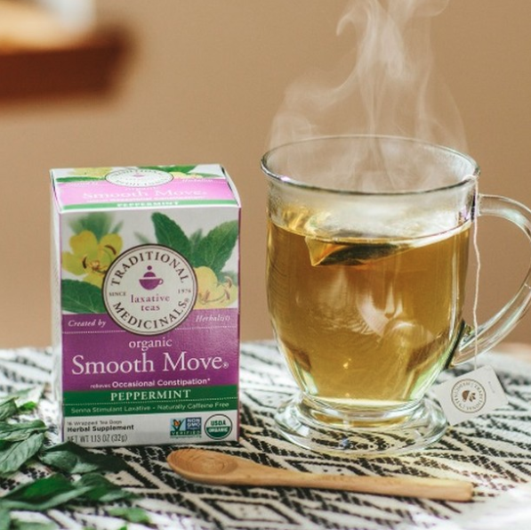Smooth Move tea... because pregnancy does a number on regulation. —lindsaydiamondcOf course, only drink it when ya need it, and stick with just one cup, brewed according to the directions! Get two boxes of 16 teabags on Amazon for $9.95.