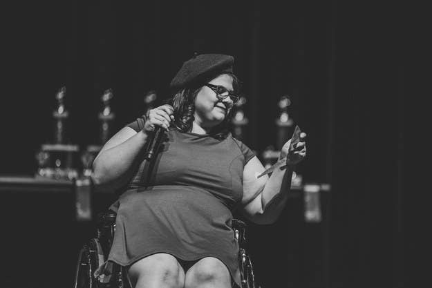 """I often feel left out of the beauty conversation. I'm disabled and a big girl, but I love taking selfies and dressing up — fashion is for everyone. Everyone. The picture above was me at a pageant absolutely loving myself. Everybody should get a moment like this."" —walknroller"