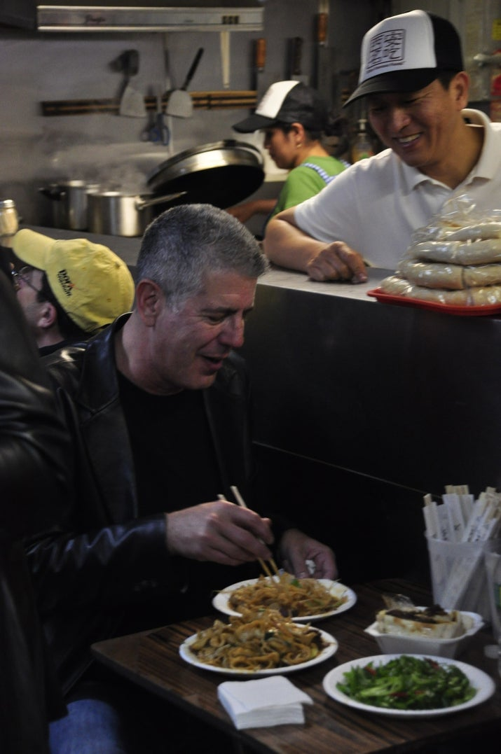 Anthony Bourdain at Xi'an Famous Foods
