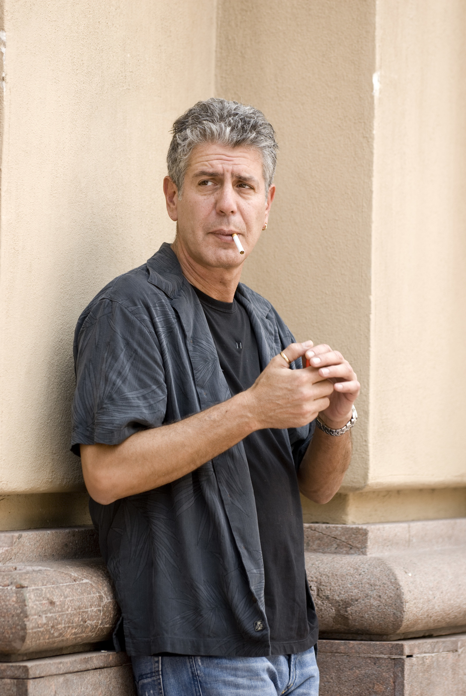 Anthony Bourdain at the Municipal Market in Sao Paulo, Brazil, while hosting No Reservations.