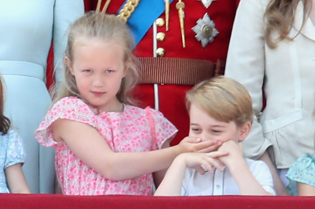 Prince George Got Shushed By His Cousin At The Queen's Birthday Celebration And It's Too Funny
