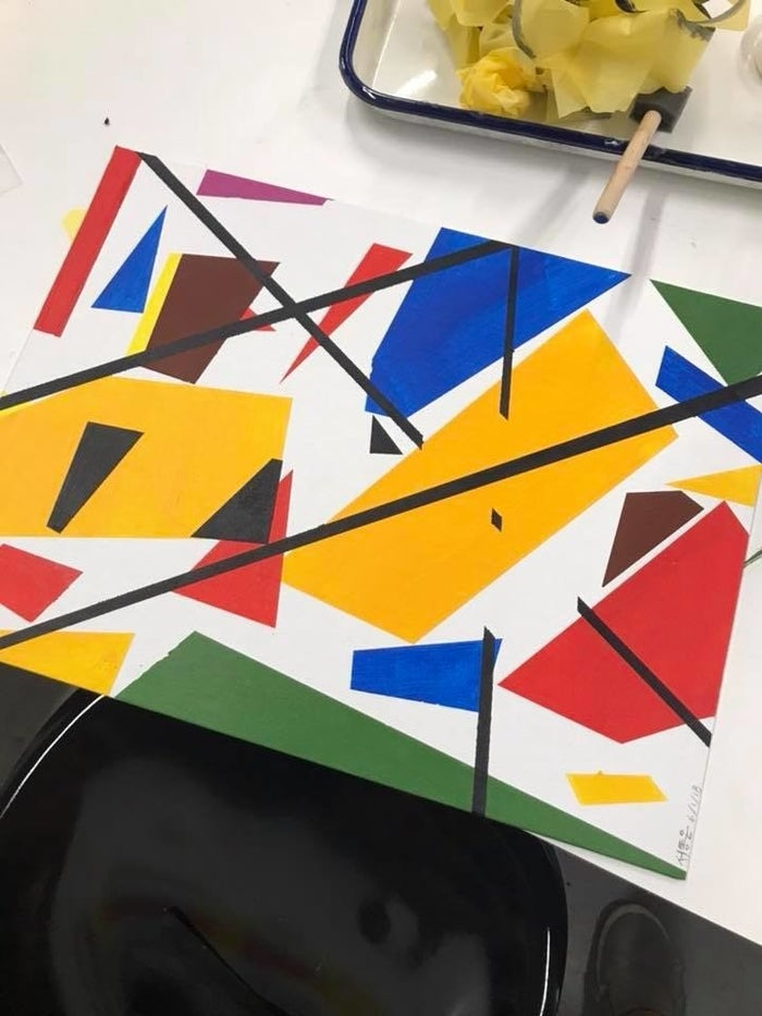 The end product is absolutely mind-blowing: something you'd find at a modern art museum. The possibilities are endless, and no two artwork will be the same - from the shape to the orientation to the colors.