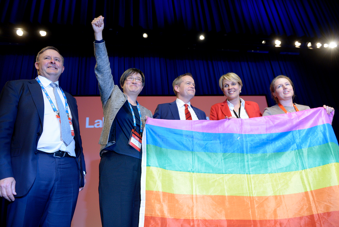 Labor politicians at the 2015 national conference