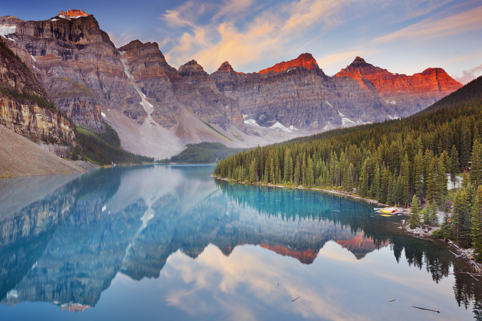 Canada: Banff National Park -  Banff, Canada's oldest national park, is nestled in the Canadian Rockies in Alberta. Doesn't that jade blue glacial lake make you feel some type of way?