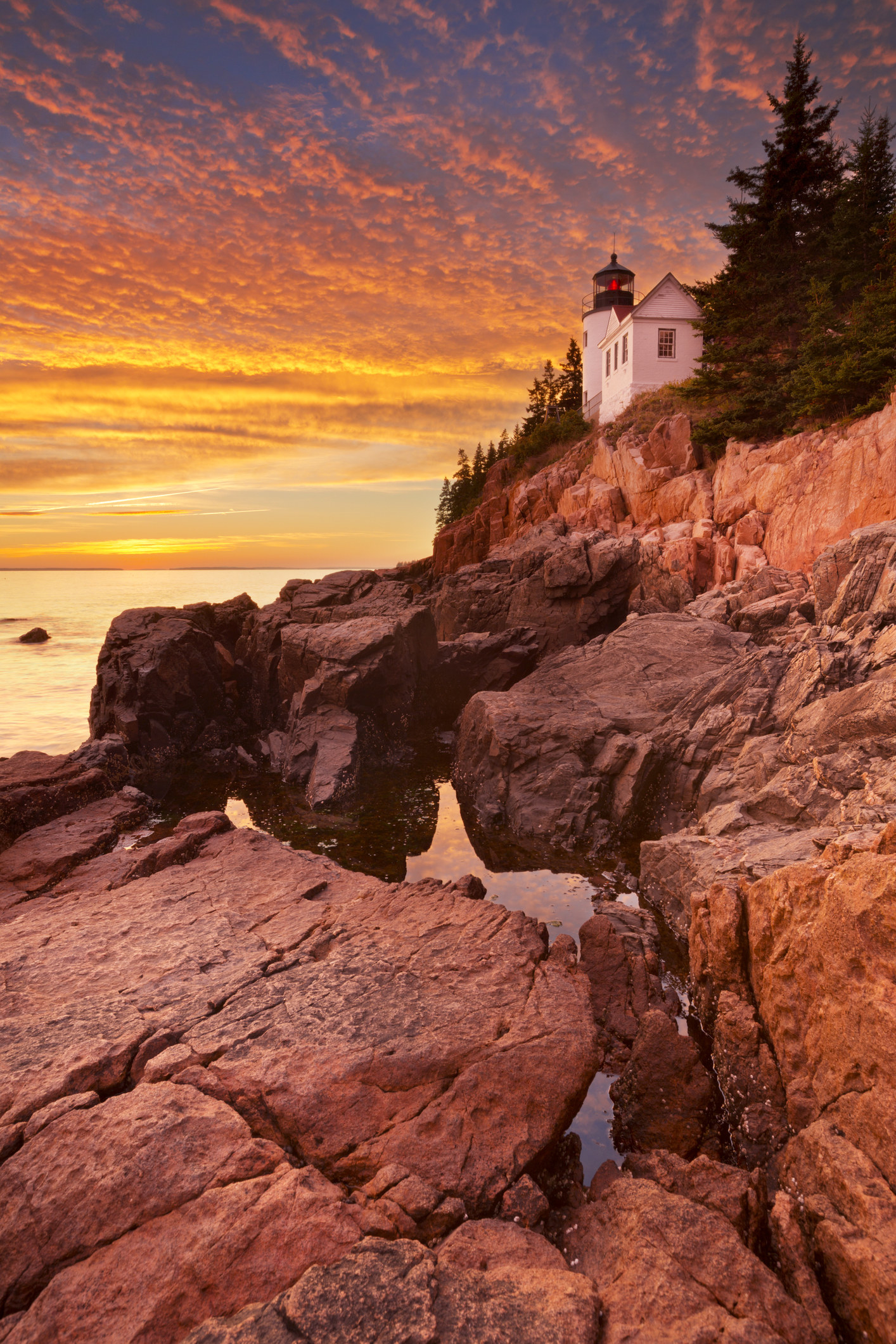 USA: Acadia National Park -  Located on Mount Desert Island in Maine, Acadia is known for rocky beaches and incredible sun rises. Visit during the fall to gaze at some of the most amazing fall foliage in the world.