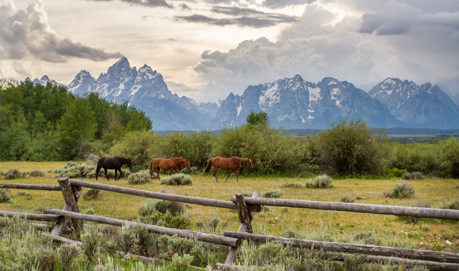 USA: Grand Teton National Park -  This park encompasses the Teton Mountain range and Jackson Hole, a valley that serves as a popular year-round tourist destination.