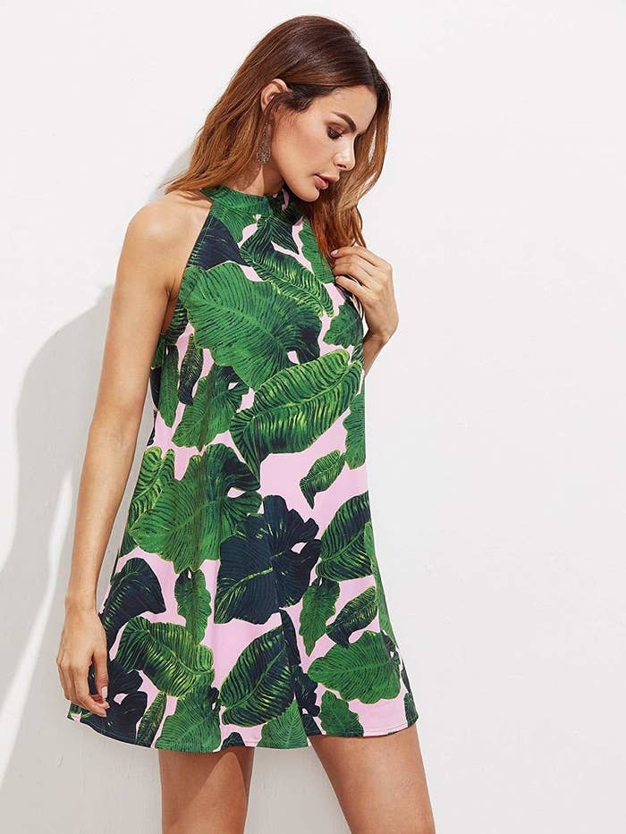 97de5b0abf687d A sleeveless chiffon dress to wear when not only your ~palms~ are sweaty.