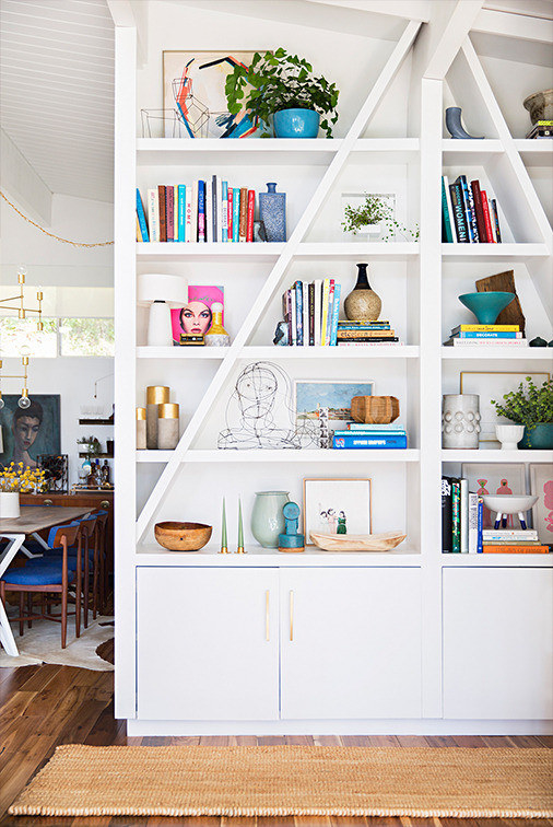 A perfectly curated bookshelf.