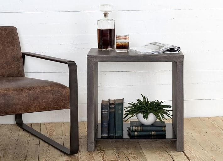 The West Elm Industrial Concrete Side Table.