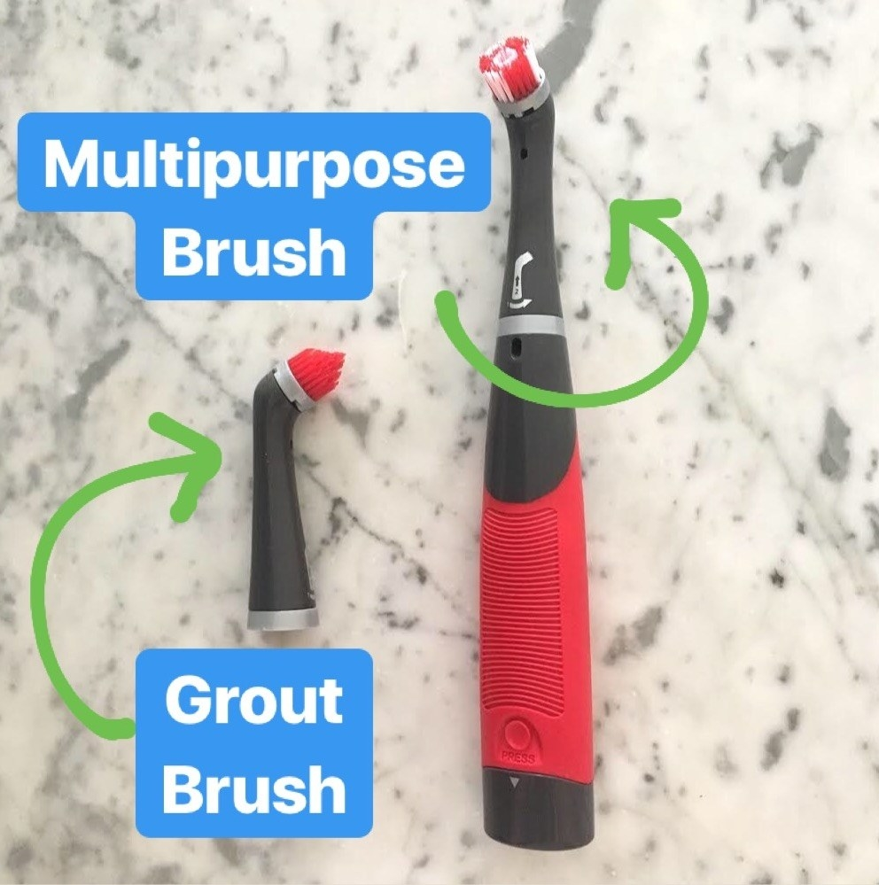 You can also add on the specialty grout brush on Amazon for $10.38, or a larger, one-inch general cleaning brush for $6.21 — though again, while the grout head does work well on grout (and super narrow corners), I was still able to get great results using just the default multipurpose brush.