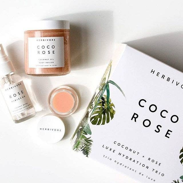 """Promising review: """"I love the natural ingredients in these products. The face spray is very refreshing, the lip gloss is so hydrating, and the body scrub is wonderful. Everything has a very soft smell of roses."""" —dvalderWhat's inside: Coconut oil body polish, rose hibiscus hydrating face mist, and lip conditioner. Why it's worth it: The total value is $51 so you save $12. Get it from Nordstrom for $39."""