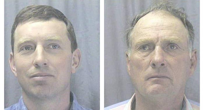 Steven Hammond (left) and his father, Dwight Hammond, after their arrest.