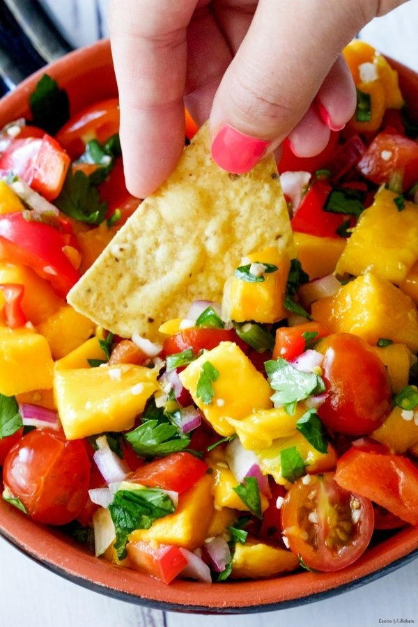 No doubt you'll be nomming on this mango salsa every day for the rest of the summer. Recipe here.