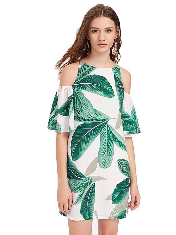 447590176fb1 A tropical-print shift that ll be unbeleafably cool and comfy