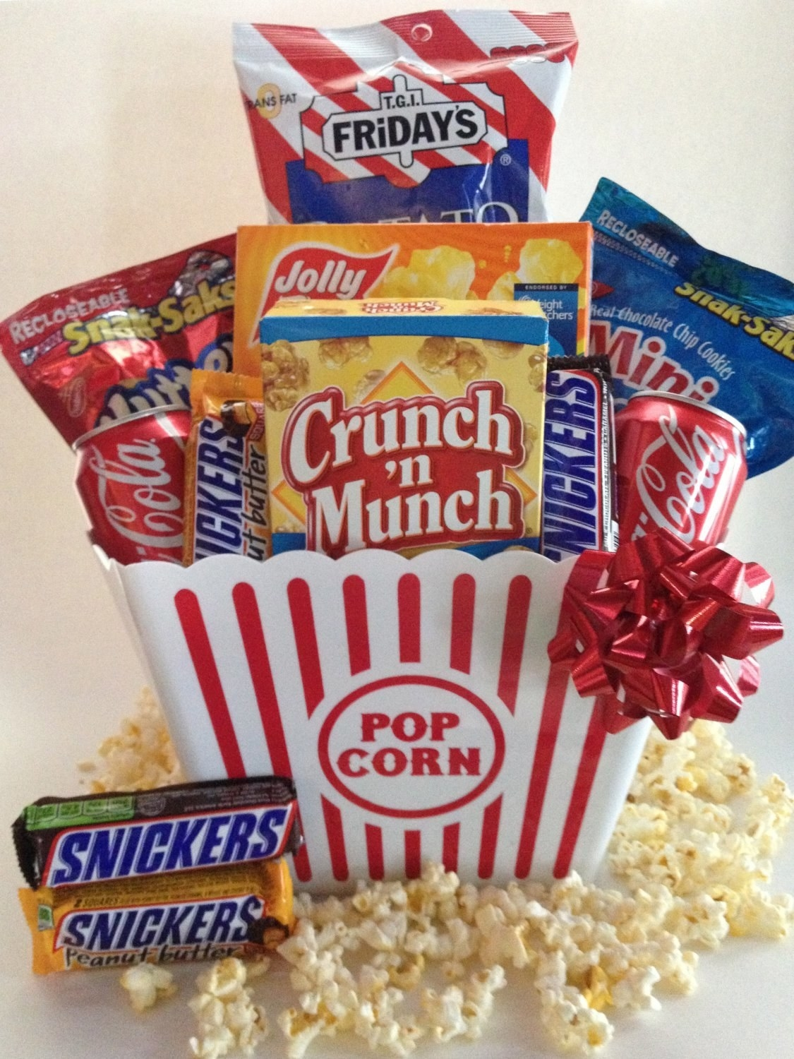 Each snack set comes with a variety of candy, popcorn, and cookies with a reusable plastic popcorn box (made especially for reaching into at the same time and accidentally holding hands). Price: $26.95