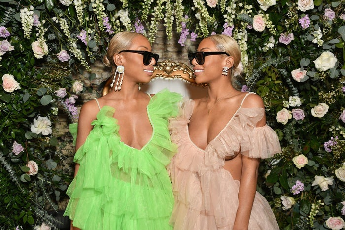 Shannon Clermont (left) and Shannade Clermont attend asn Instagram celebration of #BlackGirlMagic and #BlackCreatives on Feb. 23.