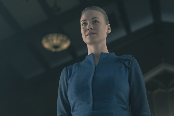 Yvonne Strahovski as Serena Joy.