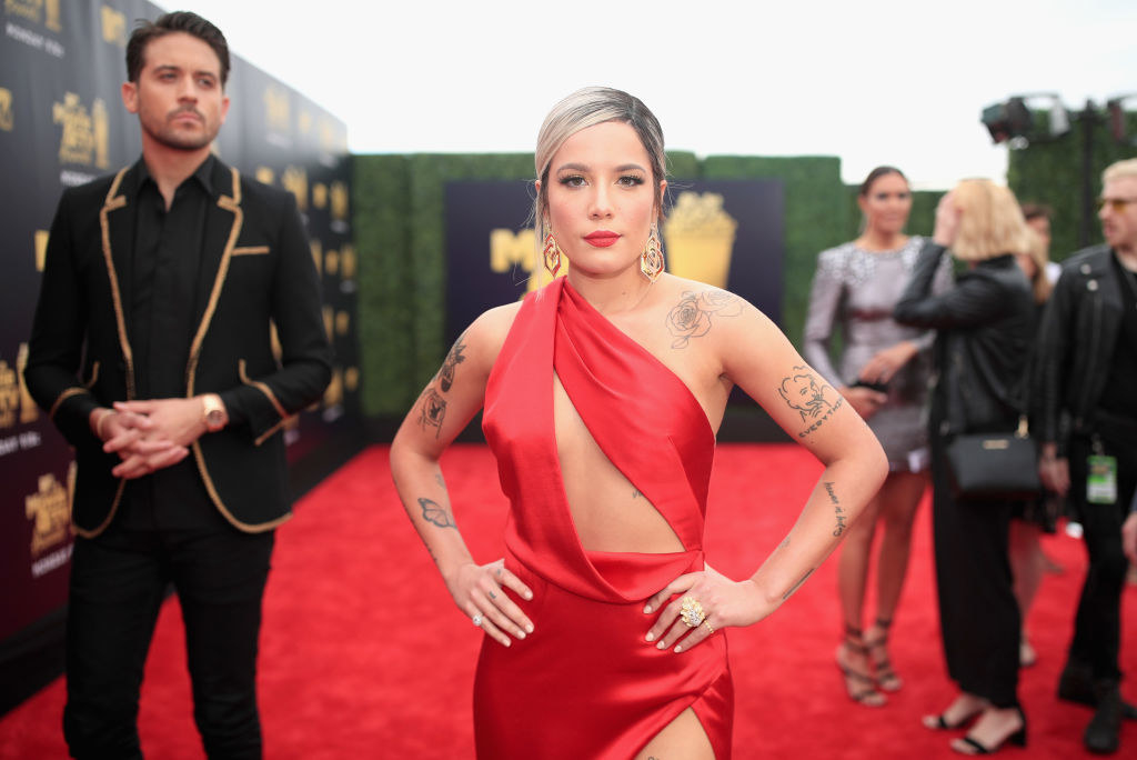 "Halsey - Who she is:  Singer My mom's guess:  ""I think that is your friend Tommasina from Notre Dame. I don't ever remember her dressing like that or the tattoos."" Was she right?"
