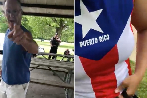 The Officer That Just Watched As A Man Went On A Racist Tirade Against A Woman For Her Puerto Rico Shirt Has Resigned