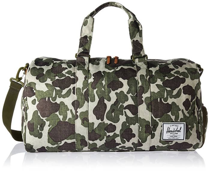 7d60202e6644 A printed Herschel duffle sure to get you chased by street-style  photographers.
